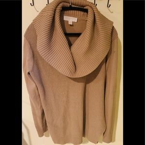 Michael Kors Camel Colored Cowl Neck Sweater